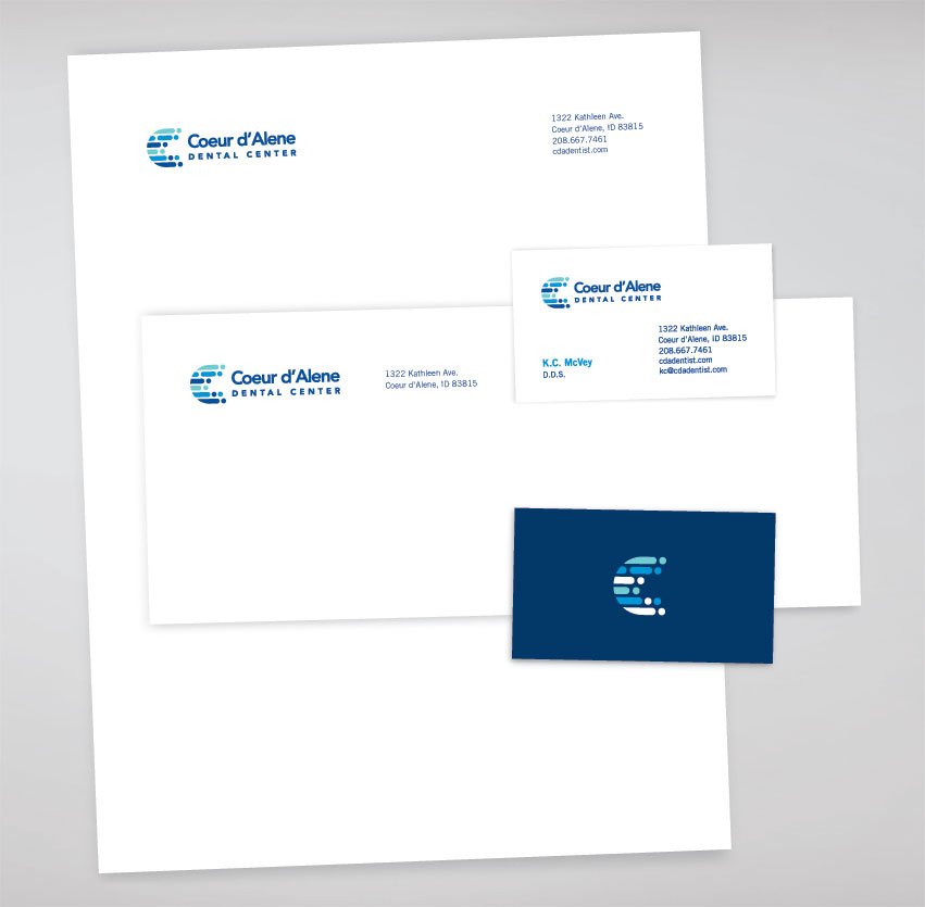 Coeur d'Alene Dental Center Corporate Identity