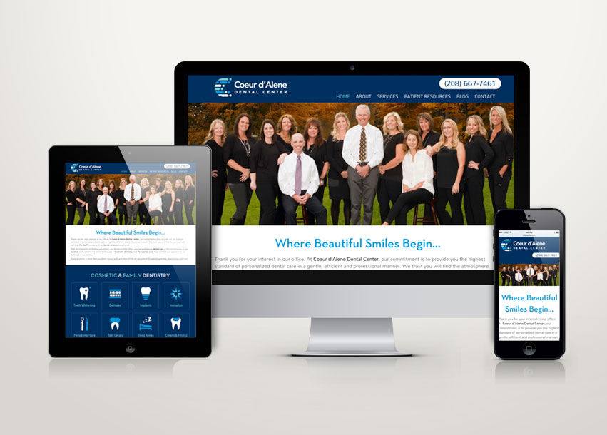 Coeur d'Alene Dental Center Website